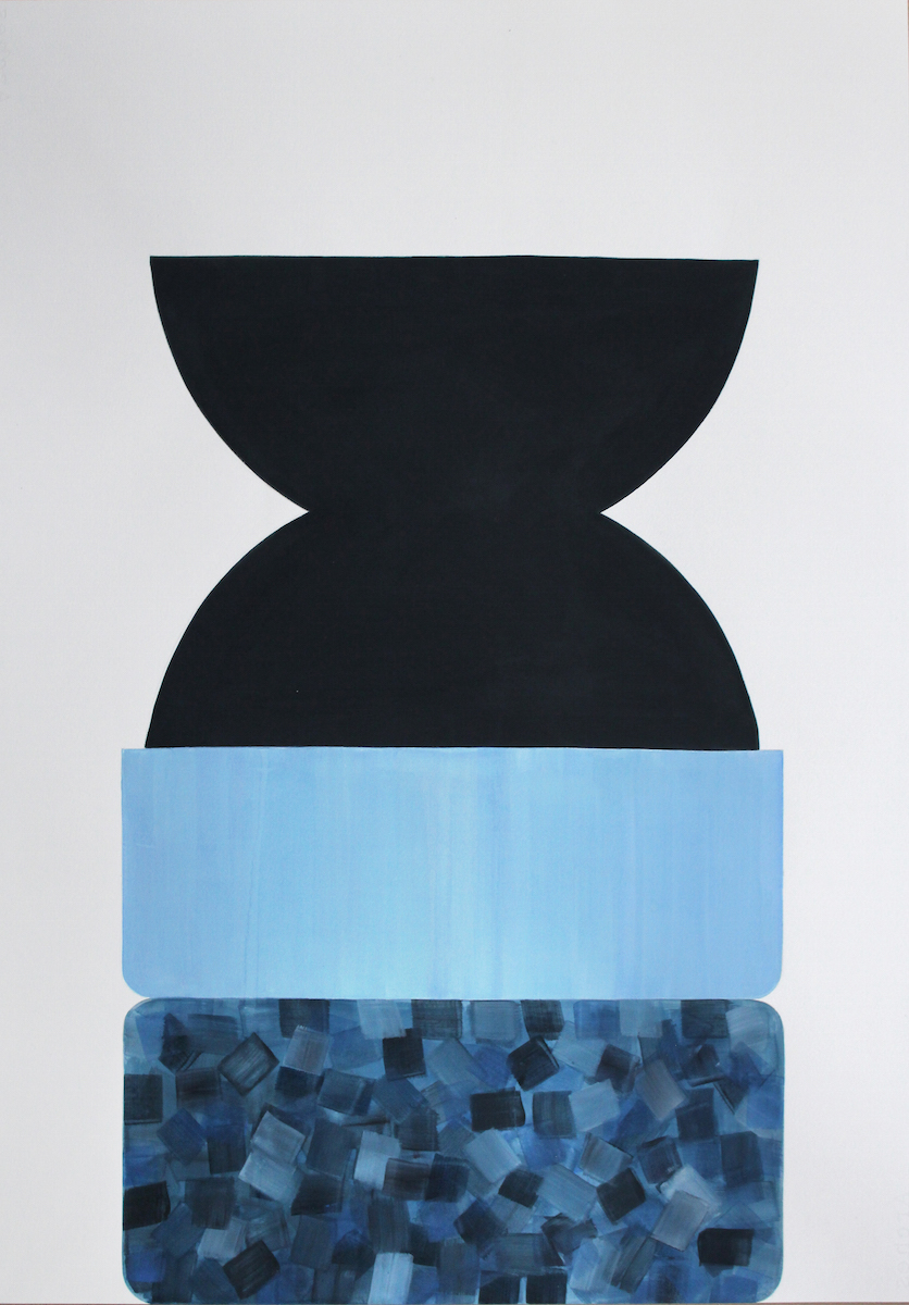 Jessica Halonen; Untitled (Pedestal I), 2015; gouache on paper; 27 1/2 x 20 in.