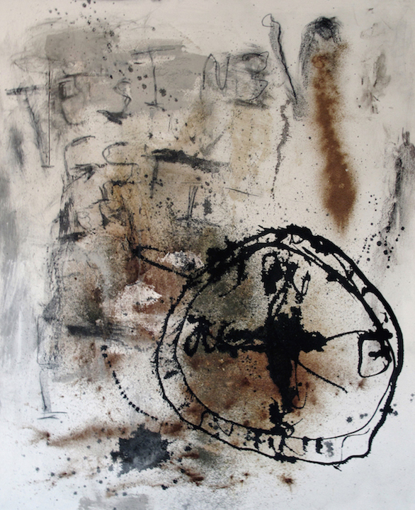 Stephen Lapthisophon; Pensativo, 2015; mixed media on canvas; 60 x 48 inches