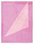 Cheryl Donegan; Untitled (two rose gingham), 2012; fabric on MDF board; 26 x 20 in.