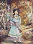 Keith Mayerson; Annie Oakley, 2013; oil on linen; 48 x 36 in.