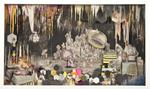 Kelly O'Connor; A Room of One's Own, 2012; mixed media collage, acrylic, graphite, charcoal; 24 x 40 x 5 in.