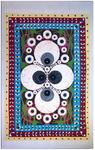 Lane Hagood; Eyeball Rug Painting, 2012; oil on canvas; 40 x 64 in.
